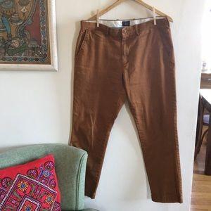 J. Crew men's 770 pants in caramel color